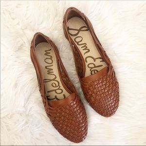 NWOT Sam Edelman Adera Woven 100% Leather Loafers.